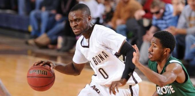 St. Bonaventure's Adegboye takes what is given