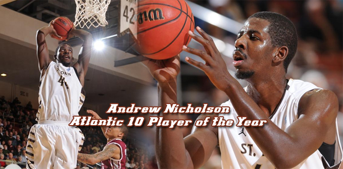 Andrew Nicholson named Atlantic 10 Player of the Year