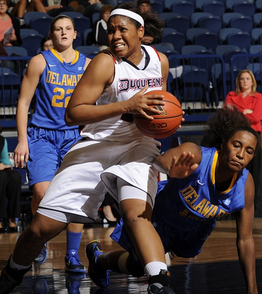 Wumi Agunbiade (Courtesy of Duquesne Athletics)