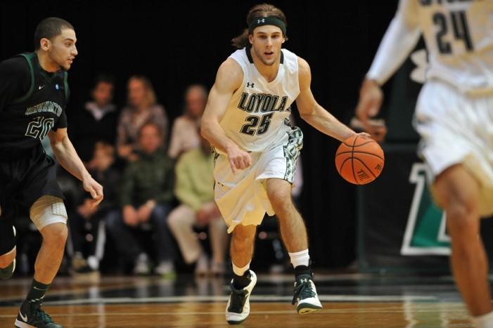Olson scores 1,000th point in Loyola win
