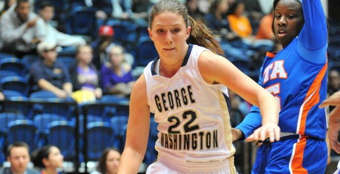 Megan Nipe's double-double helps @GW_WBB defeat #Bonnies, 57-52