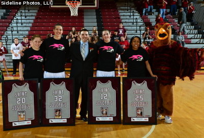Seniors lead @SJUHawks_WBB past Massachusetts, 87-50