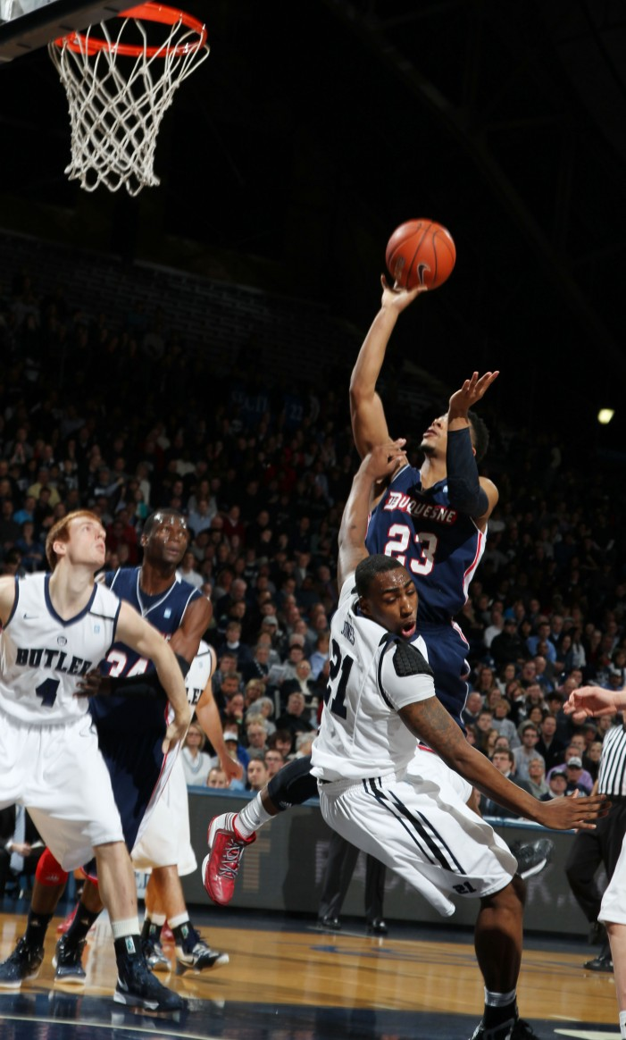 Clarke, Marshall lead Butler past Duquesne