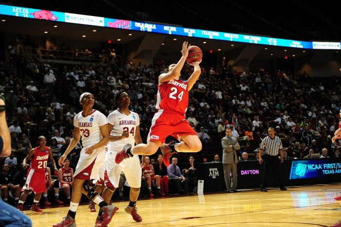 #12 @DaytonWBball holds off Saint Joseph's for A-10 regular season crown, 73-66