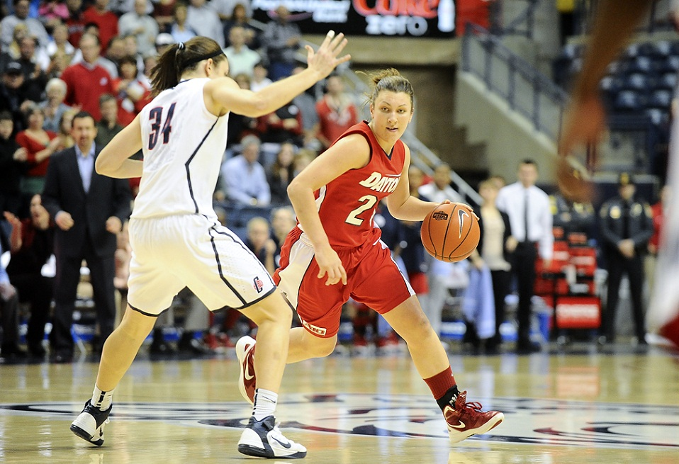 Andrea Hoover tied a career high with 24 points ( Courtesy of Dayton Athletics)