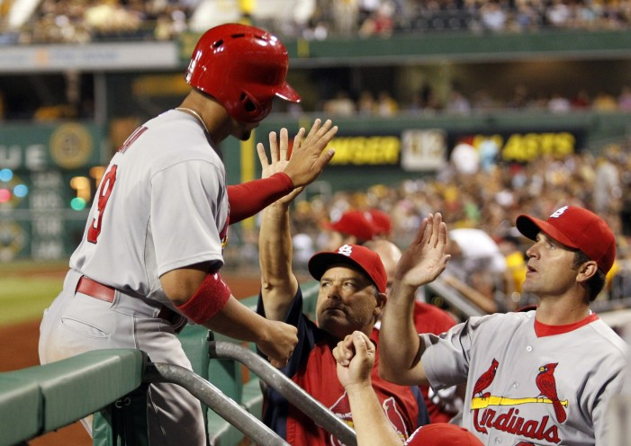 Cardinals rout Pirates; salvage series