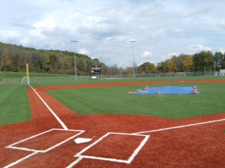 View of home plate at the Kerr-Pegula Complex on the campus of Houghton College - home of the Genesee Rapids.