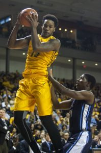 Reddic (15) grabs a rebound against ODU Monarchs forward R. Ross (23) during the first hald at Stuart C. Siegel Center. (Photo by Peter Casey-USA TODAY Sports)