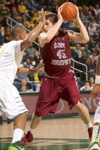 Kanacevic (45) led St. Joseph's with 23 points Saturday night. (Photo: Rafael Suanes-USA TODAY Sports)