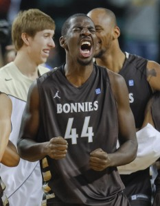 St. Bonaventure will hang #44 from the rafters of the Reilly Center. (Photo by Jim O'Connor-US PRESSWIRE)