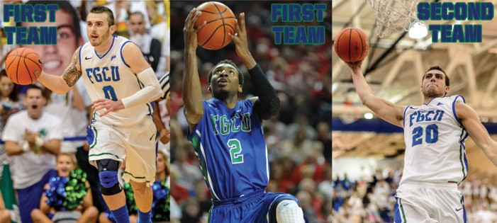 Comer, Thompson Earn #ASunMBB First Team Honors, Fieler Named To Second Team