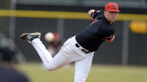 Scott Baker hurled Ball State's first complete game of the season. (Photo courtesy of Ball State Athletics)