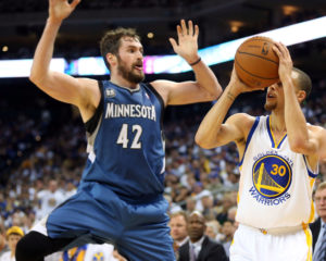 Curry and Love on the Pick and Roll? The best combination since Lennon and McCartney. (Kelley L Cox-USA TODAY Sports)
