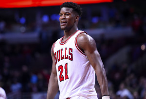 No freakin' way Jimmy Butler and Chicago's defense don't improve. (Photo by Mike DiNovo-USA TODAY Sports)