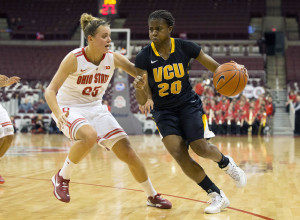 Adaeze Alaeze (20) led VCU with 14 points. (Photo by Greg Bartram-USA TODAY Sports)