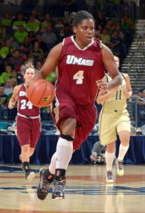 Pierre-Louis scored 29 for UMass. (Photo by Matt Cashore-USA TODAY Sports)