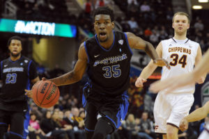 MAC Tournament MVP,  Xavier Ford, finished with 18 and four rebounds. (Photo by  Ken Blaze-USA TODAY Sports)
