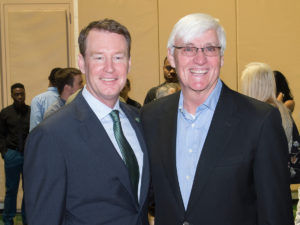 Mark Price (left) added Houston Fancher to his coaching staff. (Photo courtesy of Charlotte 49ers.com)