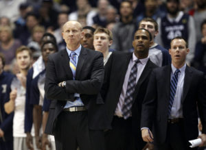 Travis Steele (far right) has been a part of the Xavier coaching staff for seven years. (Photo: Frank Victores-USA TODAY Sports)
