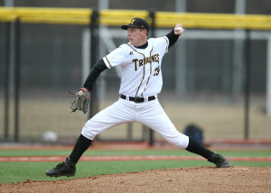 Blaine Farrell registered his fourth win of the season in the opener. (Photo courtesy of Monroe CC Athletics)
