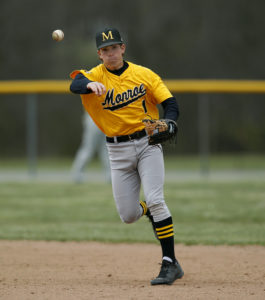 Danny Mendick was a second team All-Region III selection his sophomore year after hitting .364 and carrying a .981 fielding percentage. (Photo courtesy of Monroe CC Athletics)