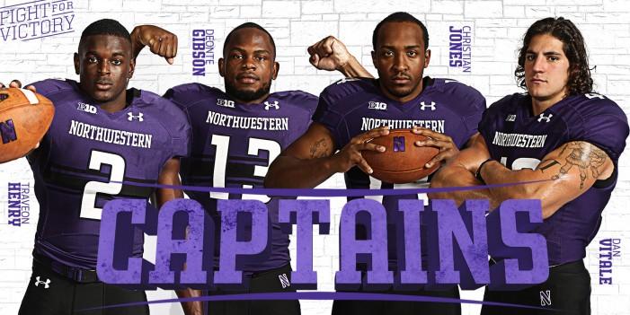 Four seniors elected Northwestern captains