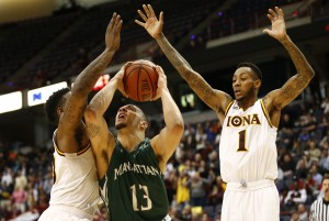 Manhattan defeated Iona in the 2015 MAAC Championship final. (Photo: Mark L. Baer-USA TODAY Sports)