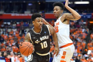 Jaylen Adams led the Bonnies with 24 points. (Photo: Rich Barnes-USA TODAY Sports)