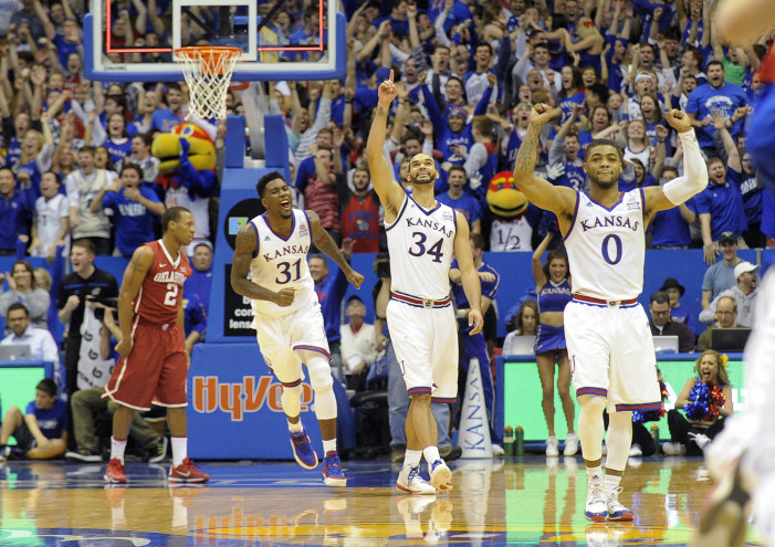 Jayhawks climb to the top of the weekly rankings