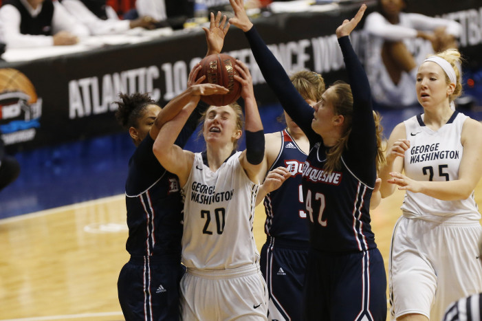 George Washington defeats Duquesne to repeat as Atlantic 10 WBB Champions
