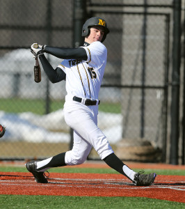 Matt Brooks collected five hits including three triples on the afternoon. (Photo courtesy of Monroe CC Athletics)