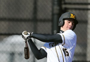 Matt Brooks collected five hits and four RBI for the day. (Photo courtesy of Monroe CC Athletics)