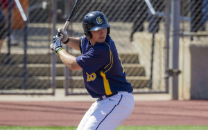 Ryan Stekl collected two hits in the game. (Photo: Tom Wolf Imaging/Courtesy of Canisius Athletics)