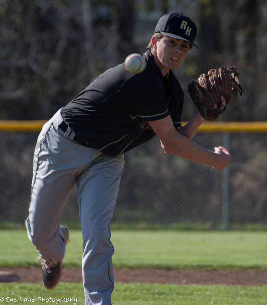 Hunter Barber is 3-2 for Rush-Henrietta. The junior right-hander has an ERA of 2.22 and has struck out 17 in 28.33 innings of work. (Photo: SUE KANE)