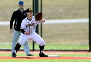 Johnny Ricotta connected on a solo shot to lead the second inning. (Photo courtesy of Monroe CC Athletics)