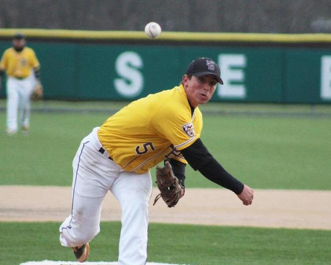 Schlimm strikes out 12; Johnson breaks Bonnies saves record in shutout of George Mason