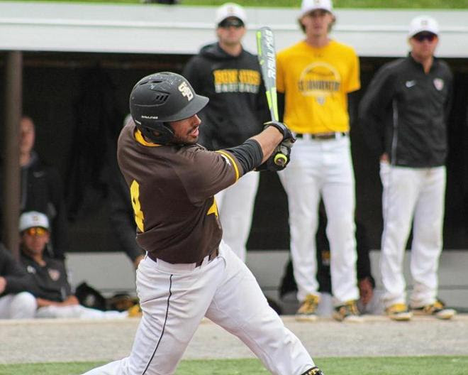 Vaccaro's seven RBI drive Bonnies past George Mason for series victory, 16-3