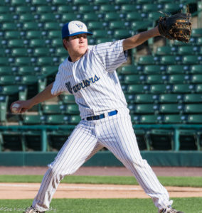 Nick Lawlor hurled a complete game as Webster-Schroeder defeated Ketcham (I), 7-4 in NYS Class AA semi-final game. (Photo: SUE KANE)