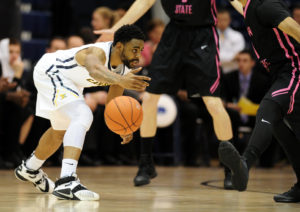 Malcolm McMillan (1) played the 2015-16 season for Canisius, where he averaged a team-high 14.7 points per game to go with 4.1 assists and 3.1 rebounds per contest. (Photo: Evan Habeeb-USA TODAY Sports)