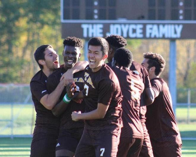 Akinlosotu's goal carries Bonnies to third straight A-10 win