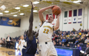 Senior Phil Valenti (Aquinas) posted his sixth career double-double with 14 points and a career-high 12 boards  (Photo Courtesy:www.tomwolf.smugmug.com)