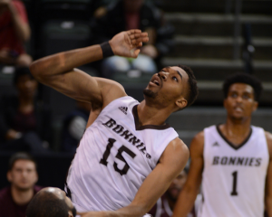 Sophomore LaDarien Griffin scored a career high 11 points off the bench. (Photo courtesy of St. Bonaventure Athletics)