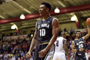 Jaylen Adams (10) connected on four of his last five shots including the eventual game winner with 41 seconds remaining to lead St. Bonaventure past Siena, 81-74. (Photo: Derik Hamilton-USA TODAY Sports)