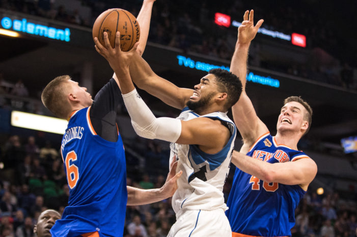 Towns drops career-high 47; but Wolves fall to Knicks