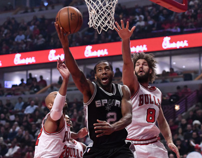 Bulls end Spurs' undefeated record on the road