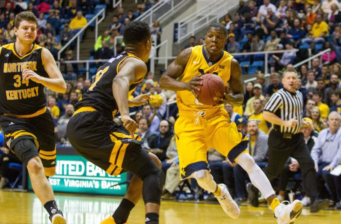 "No. 11 WVU ""steals"" win from Northern Kentucky"