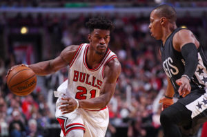 Jimmy Butler (21) scored 40 points including nine in the last two and half minutes. (Photo: Mike DiNovo-USA TODAY Sports)