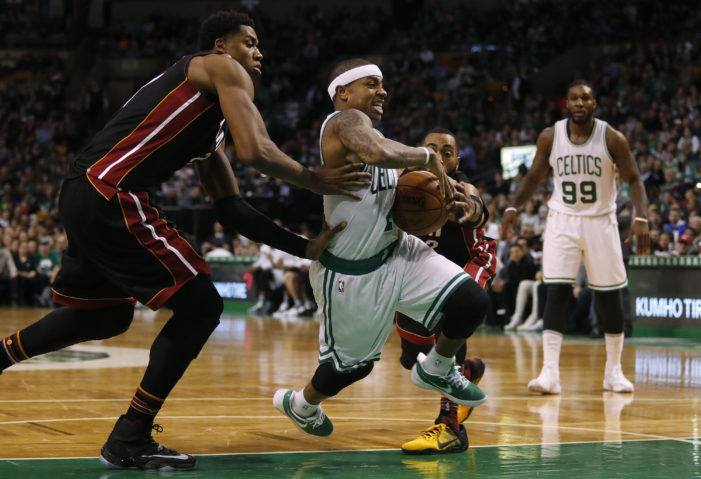 Thomas records career-high; Celts edge Heat
