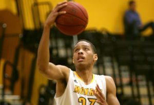 Monroe was held to two field goals over eight-plus minutes to close the game. (Photo courtesy of Monroe CC Athletics).