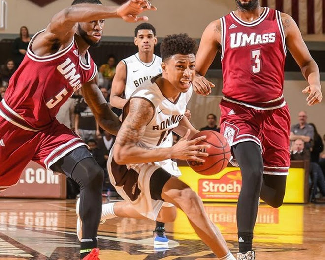 Adams, Mobley lead Bonnies to win at UMass to open A-10